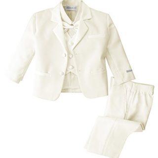 Spring Notion Baby Boys' Ivory Classic Fit Tuxedo Set