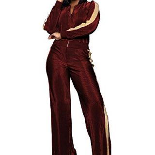 Sexy 2 Pieces Sequins Sweatshirt Tops Bodycon Pants