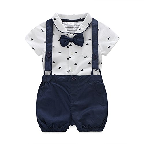 Baby Boys Gentleman Outfits Suits, Infant Short Sleeve