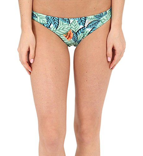 Mara Hoffman Ruched Brazilian Bottom Leaf Swimsuit Bottoms