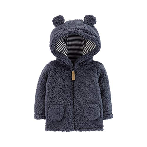 Carter's Zip-Up Sherpa Jacket Navy, 9M