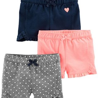 Simple Joys by Carter's Baby Girls' Toddler 3-Pack Knit Shorts