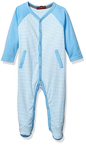 7 For All Mankind Kids Baby Footie, Little Boy Blue Stripe 0-3 Months