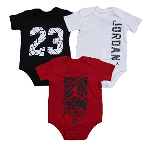 Nike Jordan Infant New Born Baby Bodysuit 3 Pcs Layette Set
