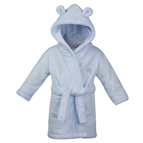Ages 6-24 Months Baby Boys /& Girls Unisex Dressing Gown Soft Plush Flannel Fleece Hooded Bath Robe