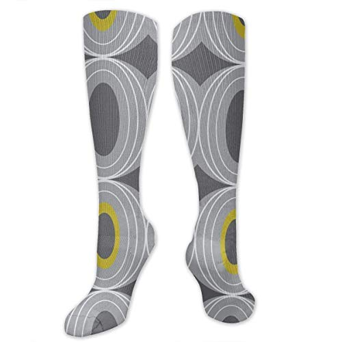 Snabeats Retro Geometric Midcentury Modern Grey Compression Socks