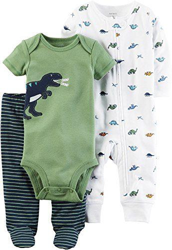 Carter's Baby Boys' 3 Piece Dinosaur Set Newborn