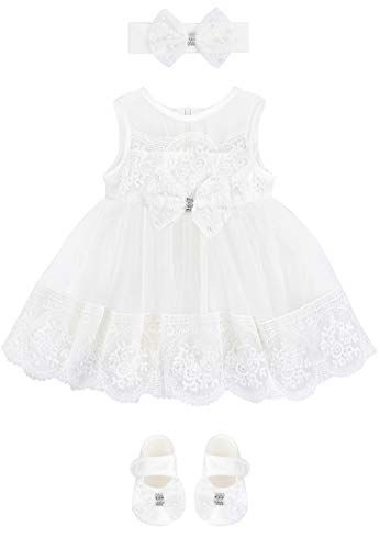 Taffy Baby Girl Christening Baptism Embroidered Dress Gown