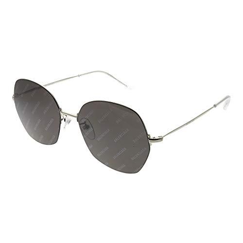 Balenciaga Sunglasses Silver and Grey Mirror Lens 58 mm