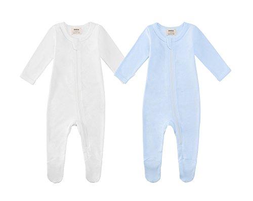 Owlivia Organic Cotton Baby Boy Girl 2 Pack Zip Front Sleep 'N Play