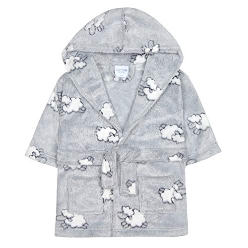 Babytown Baby Boys & Girls Lamb Plush Fleece Dressing Gown