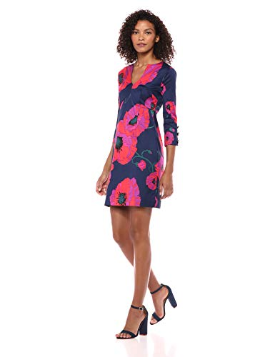 Trina Turk Women's Coltrane Button Sleeve Shift Dress