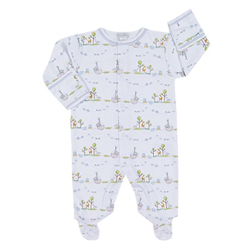 Kissy Kissy Baby Boys' Noah's Print Footie, Light Blue, 6-9M