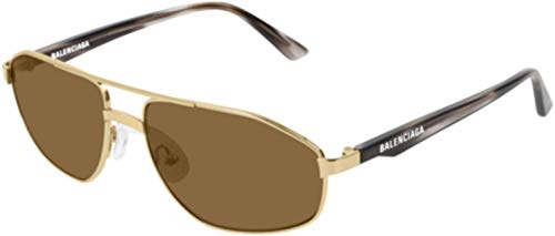 Balenciaga Sunglasses 002 Gold-Havana/Brown Lens 58 mm