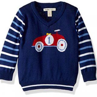 Hatley Baby Boys V-Neck Sweaters, Racer car