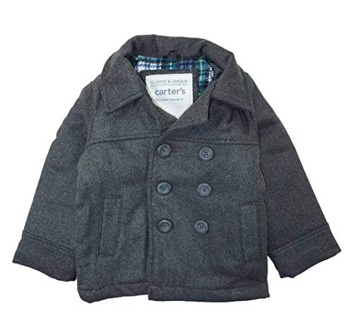Carter's Baby Boys' Infant Faux Wool Pea Coat, Grey, 18M