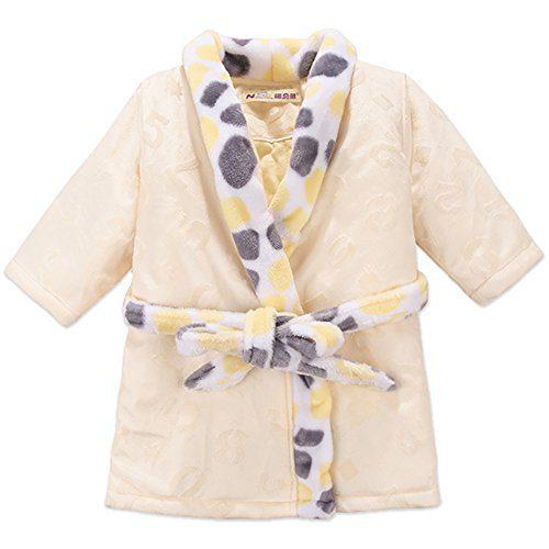 Liveinu Baby Boy Girls Bathrobe Winter Thicken Flannel Sleepwear