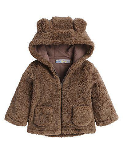 Kidsform Baby Girls Boys Fleece Hoodie Jacket Coat