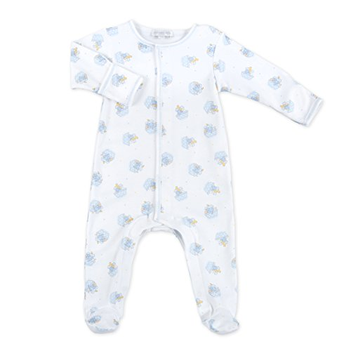 Magnolia Baby Baby Boy Noah's Friends Printed Footie Blue