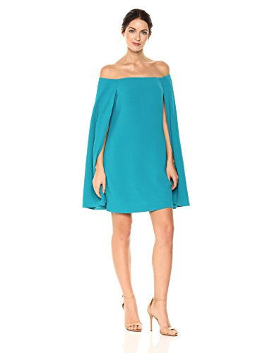 Trina Turk Women's Sculpture Dress, Aqua Plume