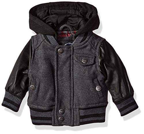 Urban Republic Baby Boys Wool Jackets, Charcoal 3-6M