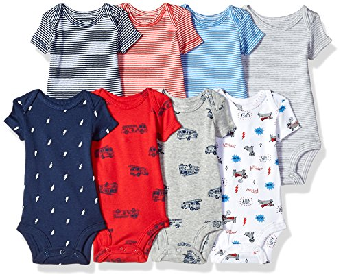 Carter's Baby Boys' 8 Pack Short-Sleeve Bodysuits