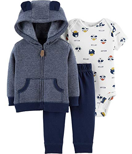 Carter's Baby Boys' Cardigan Sets (18 Months, Navy/Dogs)