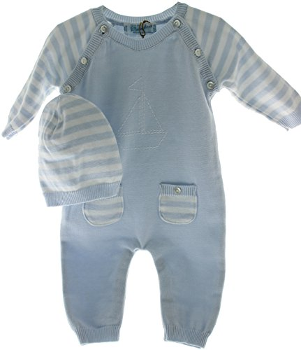 Newborn Boys Knit Take Home Outfit & Hat | Boys Layette Sets