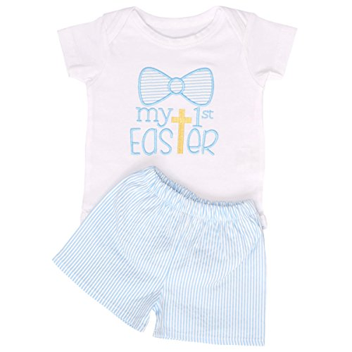 Unique Baby Boys My 1st Easter Layette Set With Shorts (6 Months)