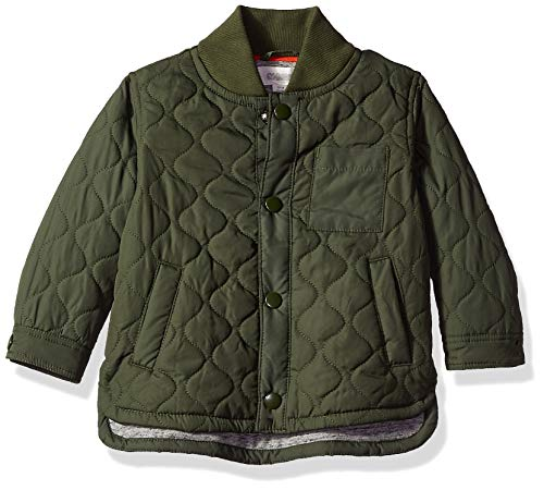 Gymboree Baby Boys Field Jacket, Olive Pockets 6-12 Mo