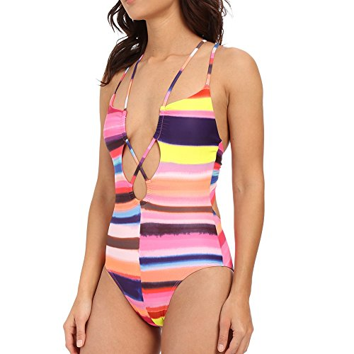 Mara Hoffman Women's Cut Out Front One-Piece Bubble Gum Swimsuit