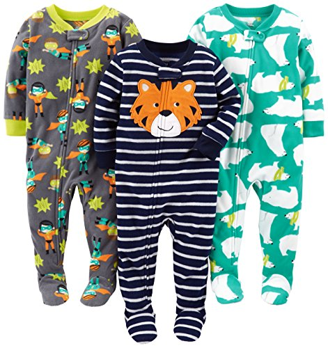 Simple Joys by Carter's Baby Boys' 3-Pack Flame Resistant Fleece