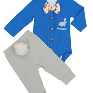 Baby Boys Girls 3PCs Sets My 1st Easter Romper Long Bodysuit