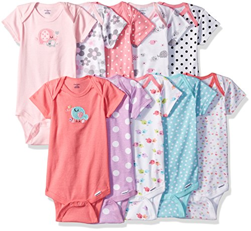 Gerber Baby Girls' 10-Pack Short-Sleeve Onesies Bodysuit