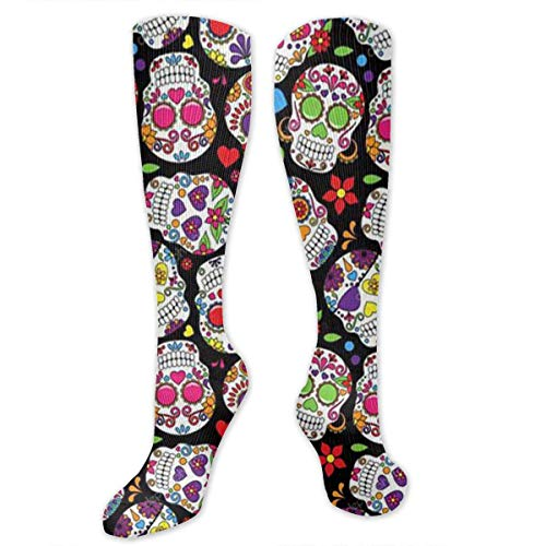 Snabeats Dead Sugar Skulls Knee High Graduated Compression Socks