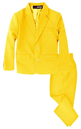 Boys 2 Piece Suit Set Toddler to Teen (Small/3-6 Months, Yellow)