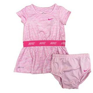 Nike Baby Girls Dress & Bloomer Set (Pink Foam/Pink, 18 Months)