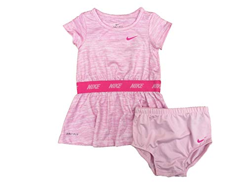 Nike Baby Girls Dress & Bloomer Set (Pink Foam/Pink, 18 Months)