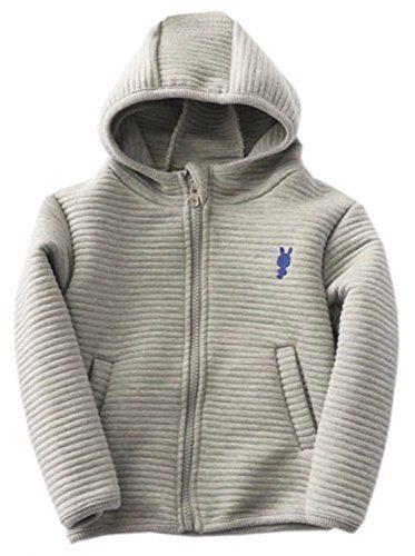 Betusline Little Baby Boys and Girls Full Zip Hoodie Jacket