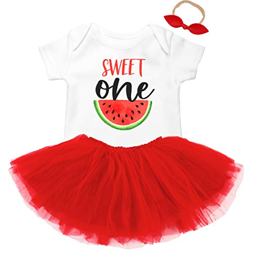 Sweet One Watermelon First Birthday Bodysuit Outfit