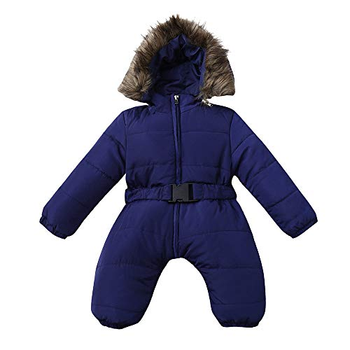Hatoys Winter Infant Baby Boy Girl Romper Jacket Hooded