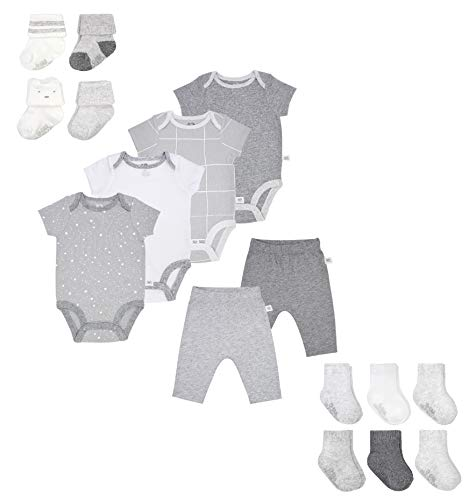Fruit of the Loom Baby Gift Set 16-Piece Breathable Cooling Mesh Bodysuits
