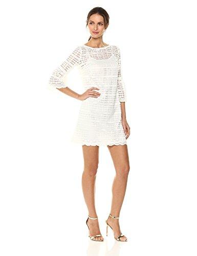 Trina Trina Turk Women's Waverly Dress, White wash XS