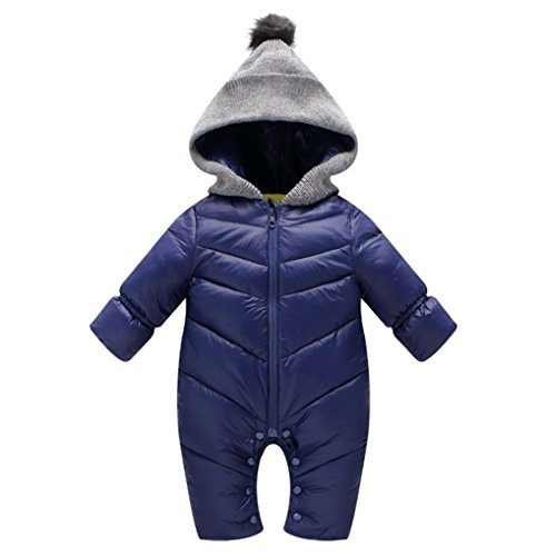 MNLYBABY Unisex Baby Hooded Puffer Jacket Jumpsuit