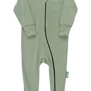 Parade Organics Essential Basic '2-Way' Zipper Romper Olive