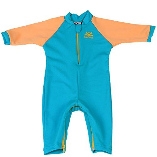 Nozone Fiji Sun Protective Baby Boy Swimsuit in Aqua/Buttercup