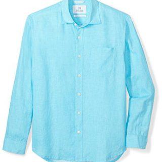 Palms Men's Relaxed-Fit Long-Sleeve 100% Linen Shirt