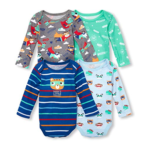 The Children's Place Baby Boys Superhero Long Sleeve Layette Set