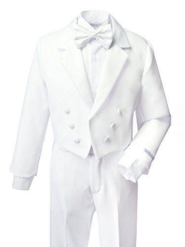 Spring Notion Boys' White Classic Tuxedo with Tail