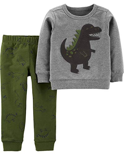 Carter's Boys' 2 Piece Sets (3T, 3D Dino/Green)